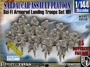 1/144 Sci-Fi Sardaucar Platoon Set 101 in Smooth Fine Detail Plastic