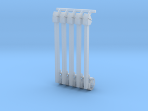 (4) GREEN STEEL FLASHER BARS in Smooth Fine Detail Plastic