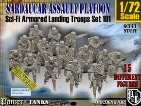 1-72 Sci-Fi Sardaucar Platoon Set 101 in Smooth Fine Detail Plastic