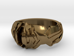 Angelic Ring in Polished Bronze: 4 / 46.5