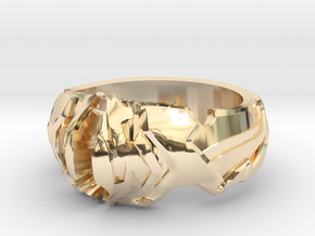 Angelic Ring in 14k Gold Plated Brass: 4 / 46.5