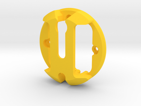 Cyclops top in Yellow Processed Versatile Plastic: Small