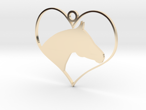 Horse Heart in 14k Gold Plated Brass