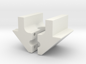 nylon peccar V insert in White Natural Versatile Plastic