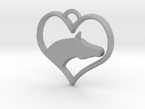Arabian Horse Heart in Aluminum