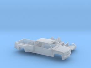 1/87 1990-98 Chevy Silverado CrewCab Dually Kit in Smooth Fine Detail Plastic