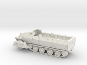 Japanese Type 1 Ho-Ha Halftrack 1/56(28mm)  in White Natural Versatile Plastic