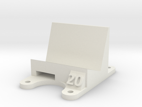 ZMR 250: 20 Degree Action Cam Mount in White Natural Versatile Plastic