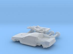 DeLorean Time Machine Train/Car 1:200 in Smoothest Fine Detail Plastic
