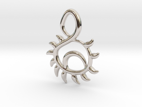 Sunset in Rhodium Plated Brass
