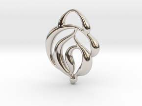 Touch of nature in Rhodium Plated Brass