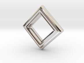Diamond no diamond pendant in Platinum