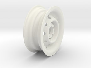 Generic 1/6th scale Jeep / Off Road 4X4 spare tire in White Natural Versatile Plastic