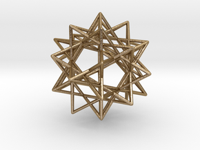 "IcosiDodecahedral Star 1.5"" V2 in Polished Gold Steel"