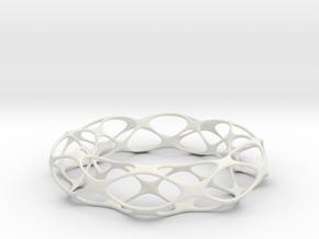 VORONOI BRACELET in White Natural Versatile Plastic