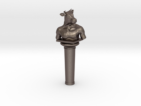 Minotaur in Polished Bronzed Silver Steel: Small
