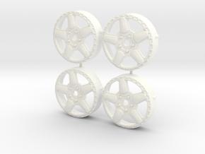MST / AC Schnitzer Type 1 Insert (x4) in White Processed Versatile Plastic