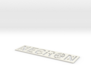 Necron Bookmark in White Natural Versatile Plastic: Small