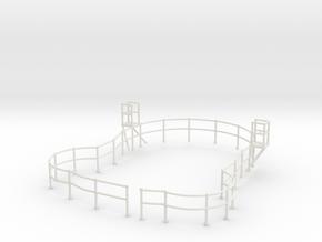 "1/48 USN Fletcher Roof Railing ""Round Bridge"" v2 in White Natural Versatile Plastic"