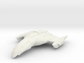 Romulan Algos Class  Scout in White Natural Versatile Plastic