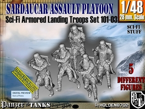 1/48 Sci-Fi Sardaucar Platoon Set 101-03 in Smooth Fine Detail Plastic