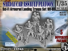 1/35 Sci-Fi Sardaucar Platoon Set 101-03 in Frosted Ultra Detail