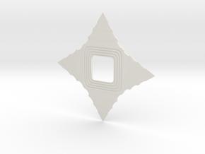 Shuriken in White Natural Versatile Plastic: Small
