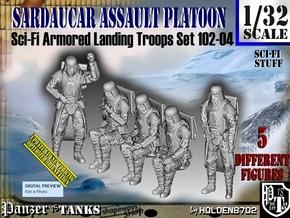 1/32 Sci-Fi Sardaucar Platoon Set 102-04 in Smooth Fine Detail Plastic