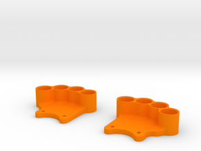 Weight Holder V2.0 (OD 85mm) in Orange Processed Versatile Plastic