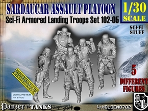 1/30 Sci-Fi Sardaucar Platoon Set 102-05 in White Strong & Flexible