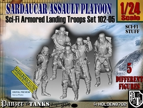 1/24 Sci-Fi Sardaucar Platoon Set 102-05 in White Strong & Flexible