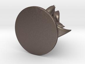Totodile Pokémon Miniature in Polished Bronzed Silver Steel