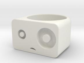 Woah! // Size 6.5 Ring in White Natural Versatile Plastic