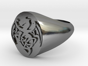 Dragon Ring size Y/12 in Polished Silver