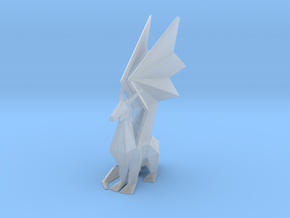 Crystal Dragon Statue in Smooth Fine Detail Plastic