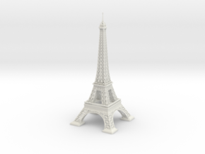 Eiffel Tower (1:2000) in White Natural Versatile Plastic