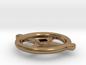 """1.1"""" scale South African Large Valve Handwheel in Natural Brass"""