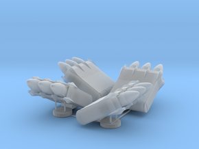 4x 3-pack Missile Launcher in Smooth Fine Detail Plastic