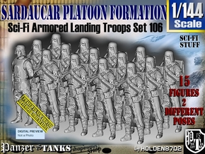 1/144 Sci-Fi Sardaucar Platoon Set 106 in Smooth Fine Detail Plastic