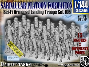1/144 Sci-Fi Sardaucar Platoon Set 105 in Smooth Fine Detail Plastic