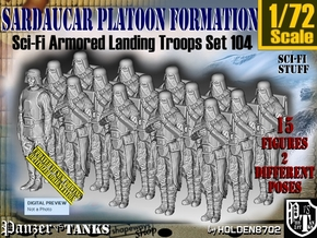 1/72 Sci-Fi Sardaucar Platoon Set 104 in Smooth Fine Detail Plastic
