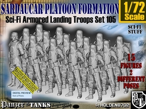 1/72 Sci-Fi Sardaucar Platoon Set 105 in Smooth Fine Detail Plastic