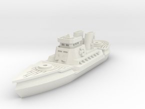 Dragoner Class Cruiser in White Natural Versatile Plastic