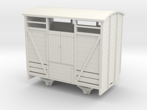 1:32/1:35  Cattle Van in White Natural Versatile Plastic