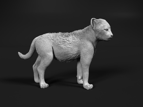 Cheetah 1:64 Standing Cub in Smooth Fine Detail Plastic