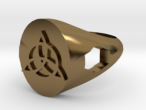Triquerta Ring Size: Y/12 in Polished Bronze
