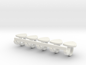 Planenhaken Maßstab 1zu8 in White Natural Versatile Plastic