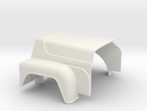 Hood-RD-1to25 in White Natural Versatile Plastic