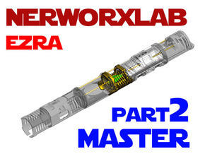 NWL Ezra - Master Part2 Lightsaber Chassis in White Natural Versatile Plastic