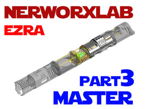 NWL Ezra - Master Part3 Lightsaber Chassis in White Natural Versatile Plastic
